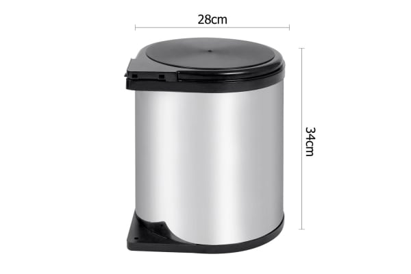 Auto Swing Out Lid Stainless Steel Bin 14L
