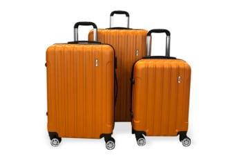 TODO Todo Ultra Light Luggage Set 3Pcs Hard Shell Combination Locks Orange