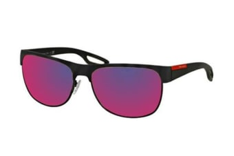 Prada Linea Rossa PS57QS - Rubber Grey (Grey Blue Red Mirror lens) Mens Sunglasses