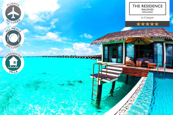 MALDIVES: 7 Nights at The Residence Maldives Including Flights for Two (Water Pool Villa - Overwater)