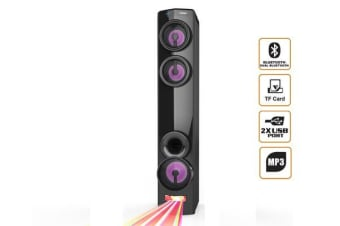 Bluetooth Tower Speaker Led Dj Light Mode Dual Bluetooth Usb Microsd Aux Mp3