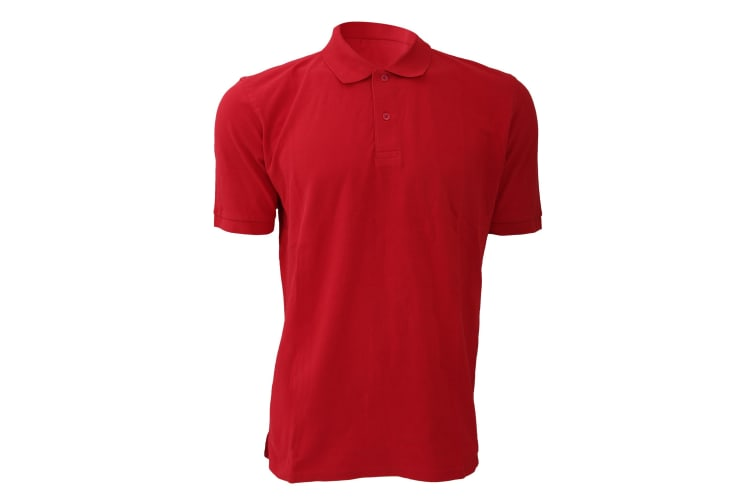 Russell Mens 100% Cotton Short Sleeve Polo Shirt (Classic Red) (L)