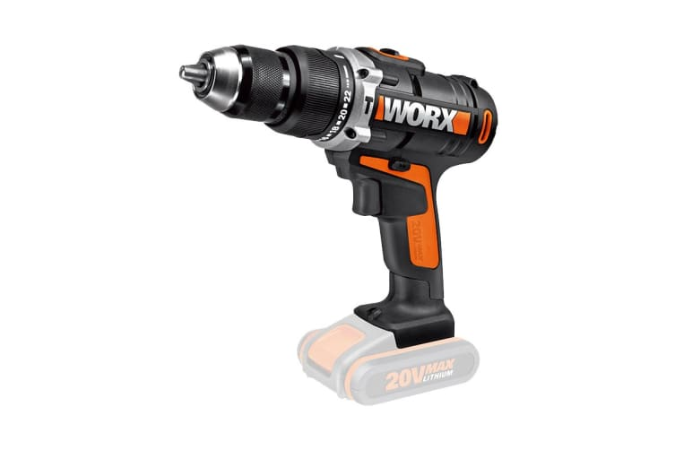 WORX 20V 13mm Cordless Hammer Drill - Skin Only (WX372.9)