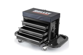 BULLET Rolling Tool Box Stool Mechanic Creeper Toolbox Seat Cushion Garage Tray