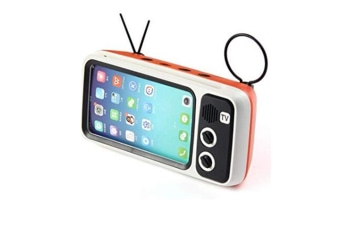 Select Mall Retro BT Speaker with Mobile Phone Screen Stand,Portable Bluetooth Speaker with AUX FM BT Optional Bluetooth V4.2-ORANGE
