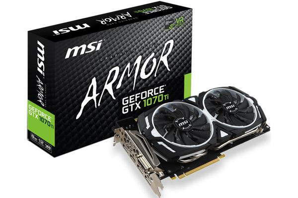 MSI NVIDIA GTX 1070 TI ARMOR 8GB Video Card - GDDR5 3xDP/HDMI/DVI SLI VR Ready 1607/1683MHz