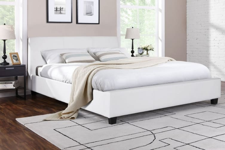 Shangri-La Bed Frame - Vernazza Collection (White, Queen)