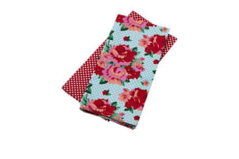Anna Gare Vintage Rose Tea Towel Set of 2