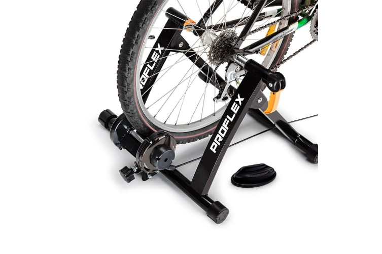 PROFLEX Indoor Bicycle Trainer - Bike Cycling Stationary Magnetic Stand Training