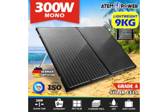 ATEM POWER 300W SUPER LIGHT Folding Solar Panel Kit 12V Mono Flexible Camping