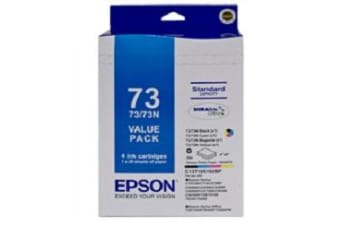 Epson 73N Ink Cartridge Value Pack Original Black, cyan, magenta, yellow