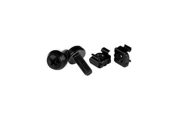 STARTECH M6 x 12mm - Screws and Cage Nuts - 100 Pack Black