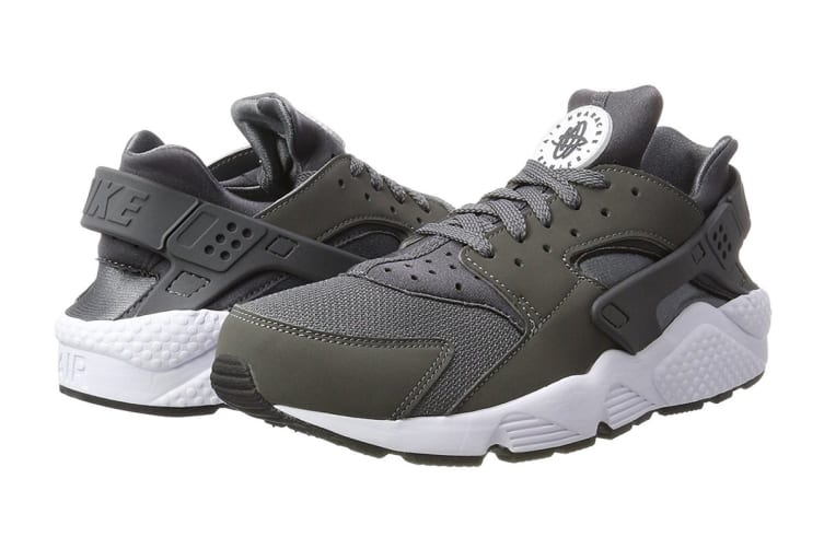 Nike Men's Air Huarache Run Running Shoe (Dark Grey/White, Size 8 US)