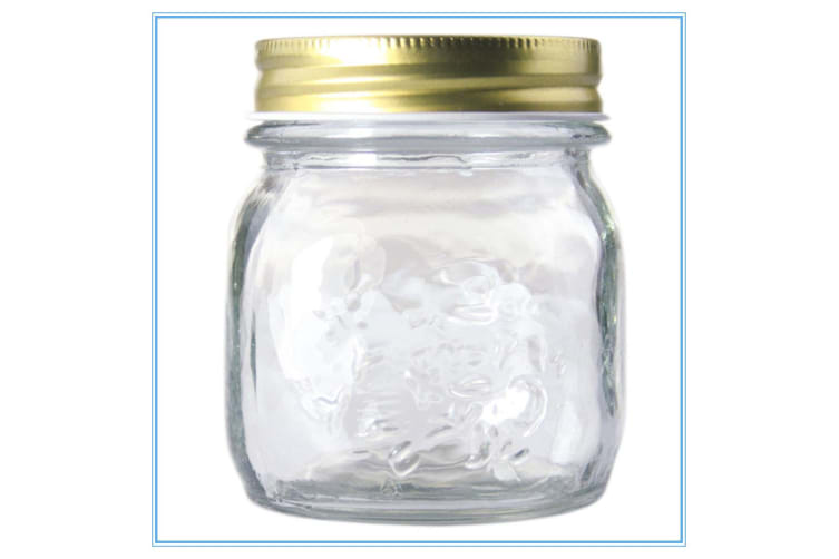 BULK BUY - 72x 300ml Mini Small Glass Jars Conserve Jam Food Favours Lolly Jar D