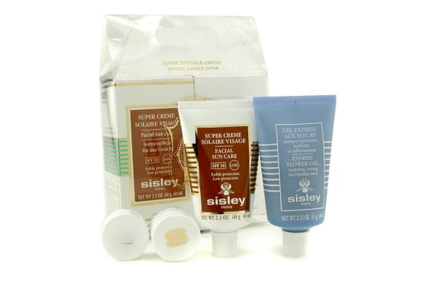 Sisley Face Solar Kit: Express Flower Gel + Facial Sun Care SPF 10 (2pcs)