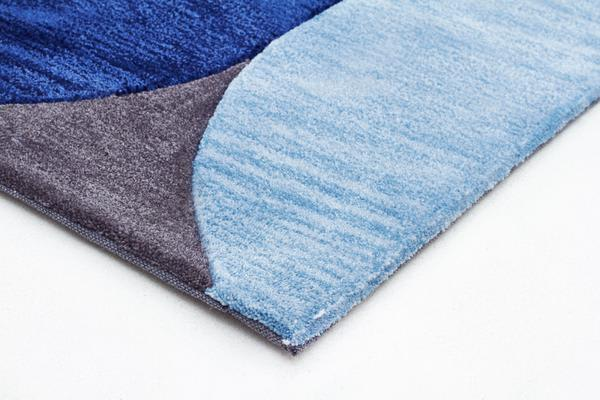 Eclipse Modern Rug Blue Navy Grey 225x155cm