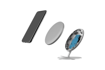 QI Wireless Charger For iPhone XR XS MAX Samsung Galaxy S10 S10+ S10e  Grey