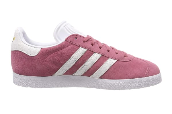 Adidas Originals Women's Gazelle Shoe (Maroon/White, Size 7 UK)