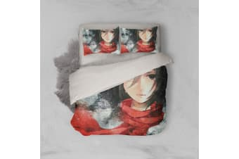 3D Anime Attack Giant Quilt Cover Set Bedding Set Pillowcases 82-Queen