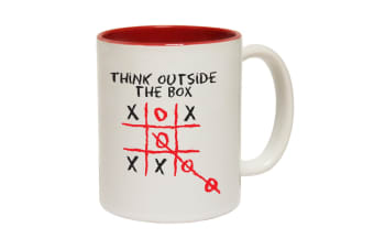 123T Funny Mugs - Think Outside - Red Coffee Cup