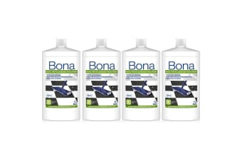 4PK Bona 1L Stone Tile & Laminate Polish Protective Floor Polisher Gloss Finish