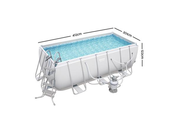 Bestway Power Steel Rectangular Frame Pool 4M x 2M