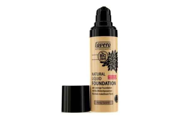 Lavera Natural Liquid Foundation (10H Long Lasting) - # 03 Honey Sand (30ml/1oz)