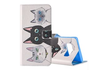 For Samsung Galaxy Note 8 Wallet Case  Three Cats Leather Protective Cover