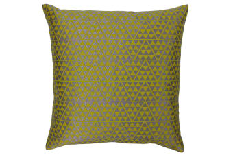 Paoletti Louvre Cushion Cover (Warm Olive/Silver)