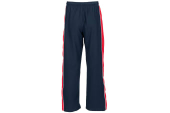 Finden & Hales Mens Contrast Sports Track Pant / Tracksuit Bottoms (Navy/ Red/ White) (L)