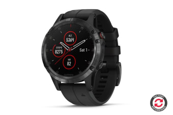 Refurbished Garmin Fenix 5 Plus Sapphire Edition Black with Black Band