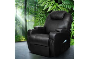 Recliner Chair Electric Massage Chairs Heated Lounge Swivel Sofa