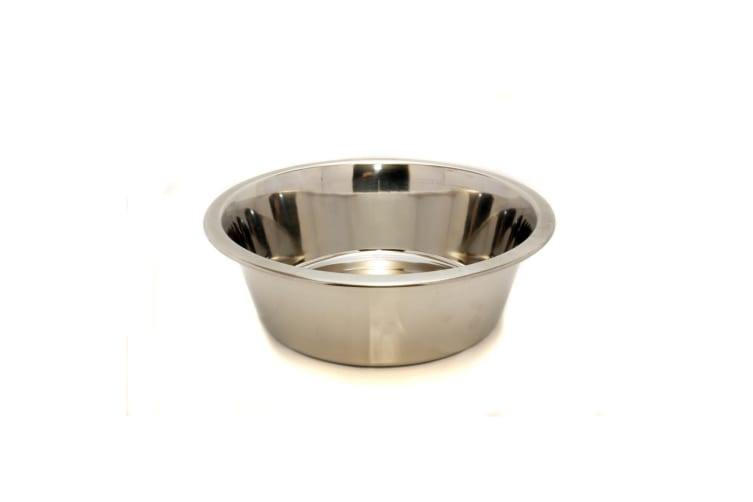 Rosewood Stainless Steel Pet Bowl (Silver) (6.5in)