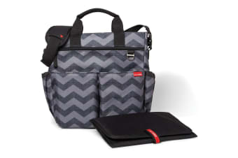 Skiphop Duo Signature Nappy Bag Tonal Chevron