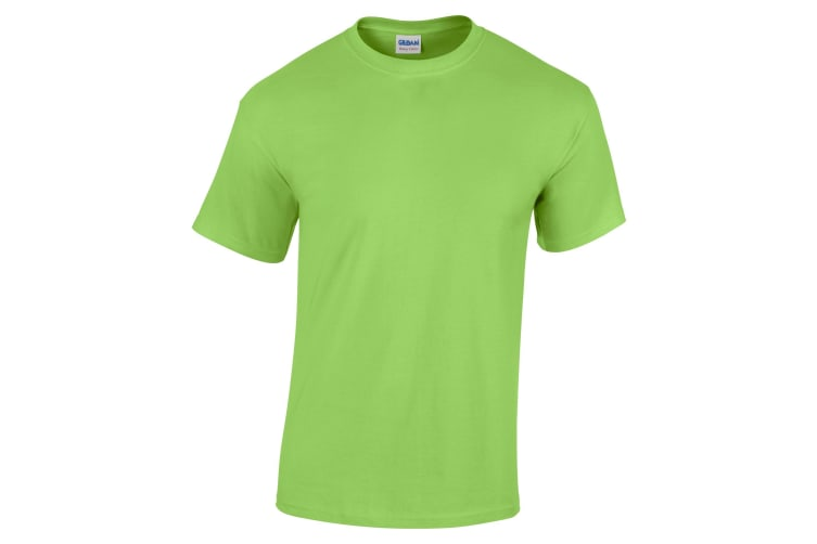 Gildan Childrens Unisex Heavy Cotton T-Shirt (Pack Of 2) (Lime) (S)