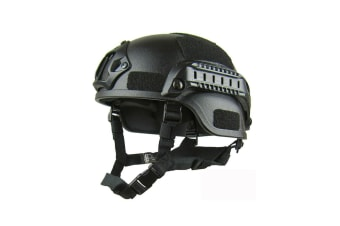 Select Mall Adjustable Tactical Helmet Simple Lightweight Riding Helmet for Outdoor Sports-Black