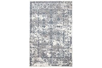 Yasmin Distressed Transitional Rug White Blue Grey 230X160cm