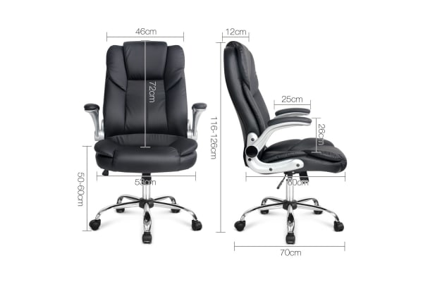 PU Leather Adjustable Racing Style Office Chair (Black)