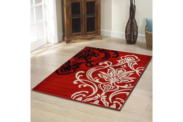 Stunning Thick Patterned Rug Red 170x120cm
