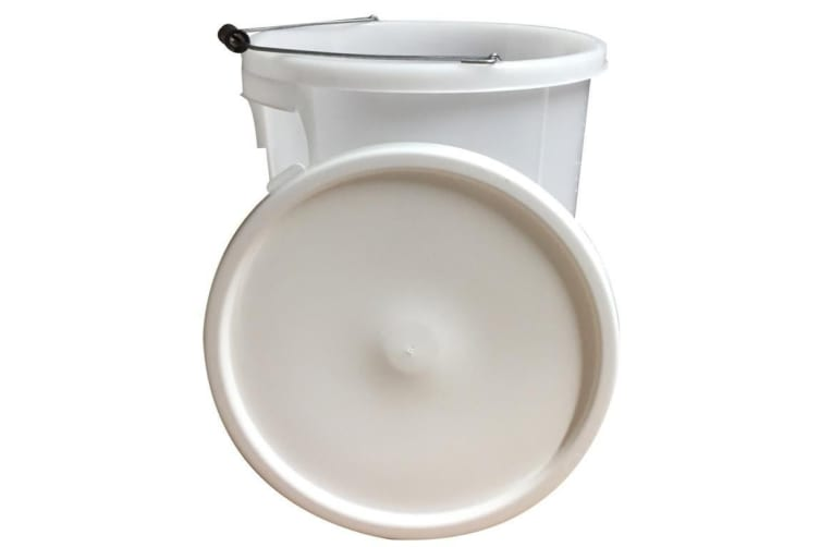 Proplas Plasterers Bucket With Handle (White) (28L)