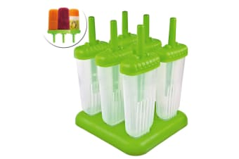 6pc Tovolo Groovy Ice Pole  Popsicle Cream Sticks Frozen Mould Makerl Mold Set