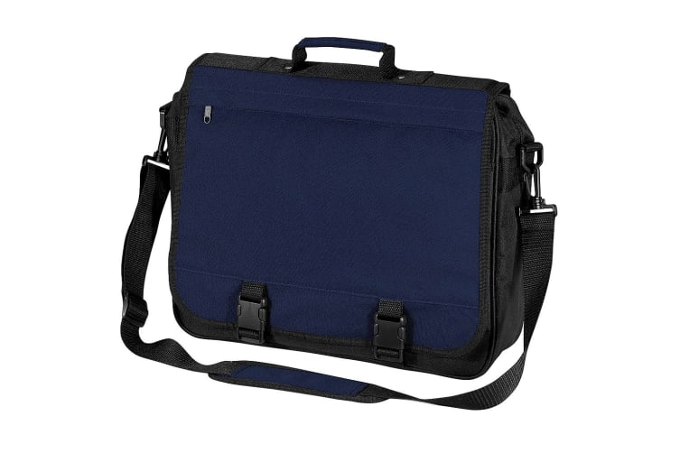 Bagbase Portfolio Briefcase Bag (15 Litres) (Pack of 2) (French Navy) (One Size)