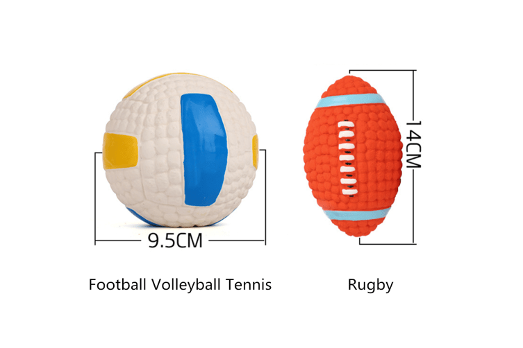Voice Training Balls For Dog Teeth Cleaning Latex Toy Balls Tennis