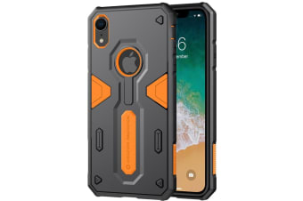 For iPhone XR Tough Defender II Case Orange Shockproof TPU & PC Armour Cover