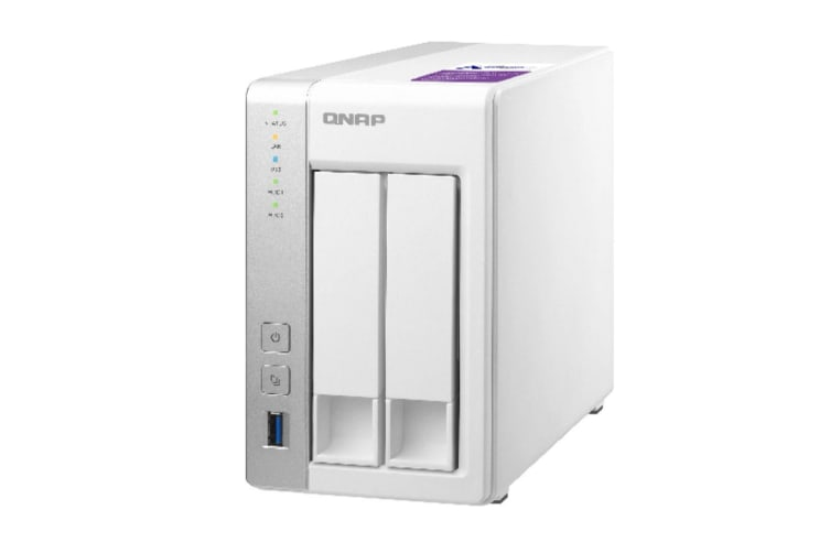 QNAP TS-231P NAS/storage server Ethernet LAN Desktop Grey,White
