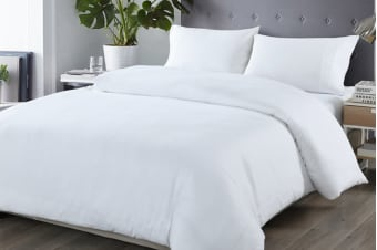 Royal Comfort Blended Bamboo Quilt Cover Set (White)