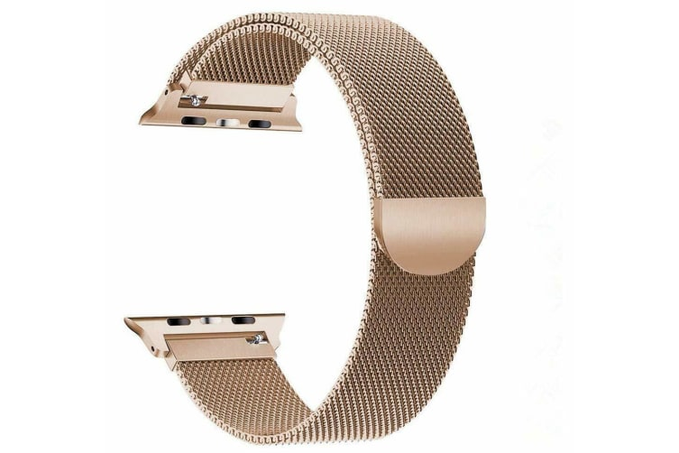 [Apple watch]Series 5 4 3 2 1 Milanese Magnetic Stainless Loop Strap Band 38mm/40mm iwatch-Rose Gold