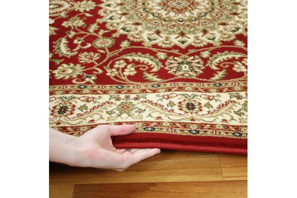 Medallion Rug Red with Ivory Border 290x200cm
