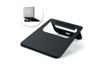 "Satechi Aluminium Stand Tray/Holder for 12""-17"" Laptop/MacBook/Notebook Black"
