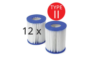 6x Twin Sets of Bestway Above Ground Swimming Pool Cartridge Filter Element Type II - 58094